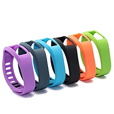 SnowCinda 6Pcs Replacement Bands with Clasps for Garmin Vivofit 2 (No Tracker, Replacement Bands Only)