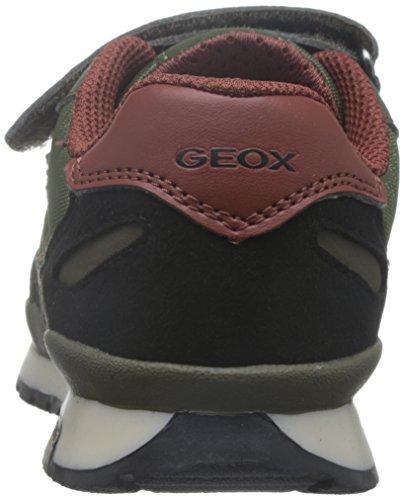 Geox J Pavel J, Zapatillas para Niños Grün (DK MILITARY/DK ORANGC3730)