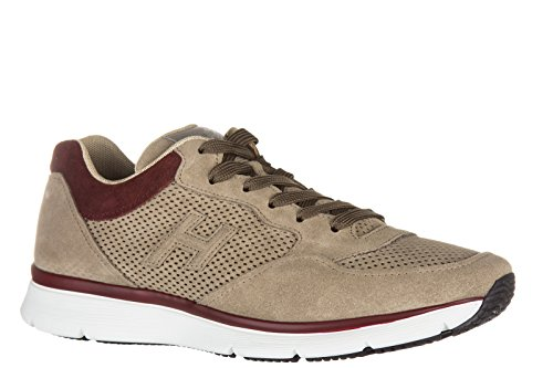 Hogan Scarpe Sneakers Uomo Camoscio Nuove h254 3D Forato Beige