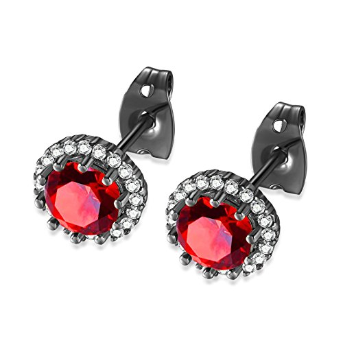 Daesar Gold Plated Earrings Womens Stud Earrings White Channel Rhinestone Earring Disc Circle Earrings