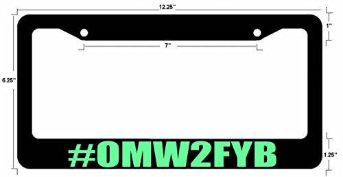 Funny dope JDM License Plate Frame BLK FR Mint ()