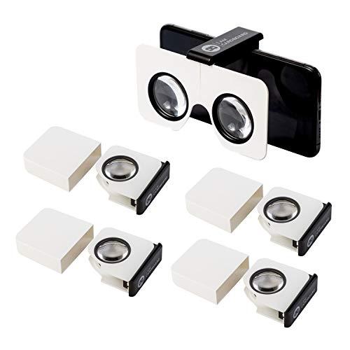 Five-Pack Pocket 360 Mini VR Viewer | The Best Google Cardboard Virtual Reality Glasses | Google Cardboard v2 Inspired…
