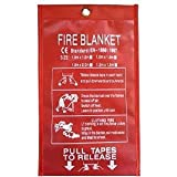 "Coobl® High quality family first aid outdoor fire extinguishing device glass fiber fire extinguishing blanket Size:59""x59"" (Large)"