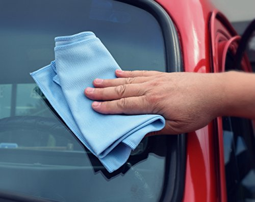 THE RAG COMPANY (3-Pack) 16 in. x 24 in. Premium Window, Glass, Mirror & Chrome Professional Korean 70/30 Microfiber LINT-FREE, STREAK-FREE Detailing Towels by THE RAG COMPANY (Image #8)