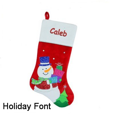 DIBSIES Personalization Station Personalized Glittery Christmas Stocking (Snowman)