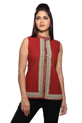 Women's Indian Kurti Large Rust by In-Sattva