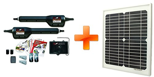 Mighty Mule MM262 Solar Package - Dual Gate Opener w/10 Watt Solar Panel