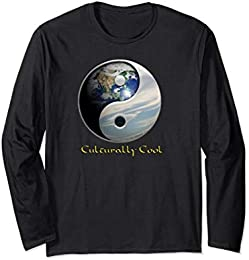 Planet Earth Yin Yang t-shirt