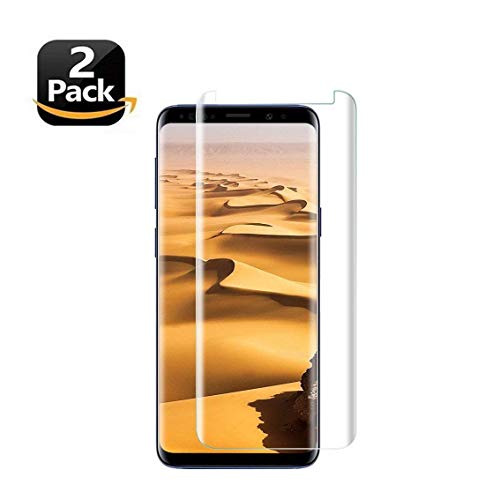 LEDitBe Samsung Galaxy S9 Screen Protector,[2 Pack][3D Curved Tempered Glass] [Case Friendly][Full Coverage][Anti-Scratch][Bubble-Free] Screen Protector Film Compatible with Samsung Galaxy S9[Clear]