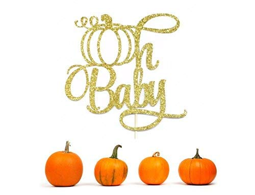 Oh Baby Cake Topper, Fall Baby Shower Cake Topper, Fall Gender Reveal Cake Topper, Little Pumpkin