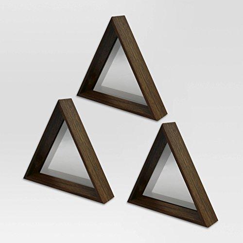 Amazon.com: Project 62 Triangle Mirror Set of 3 Walnut Finish Baby ...