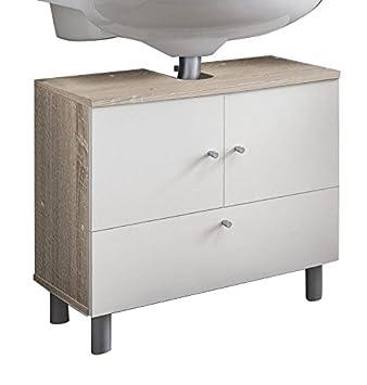 Badezimmer Unterschrank Weiß | Wilmes 85003 80 0 75 Badmobel Waschbecken Unterschrank