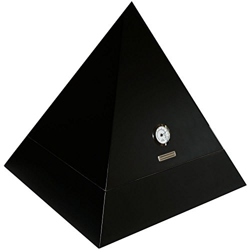 H&H Mystic Collection - Cigar Humidor (Black Pyramid)