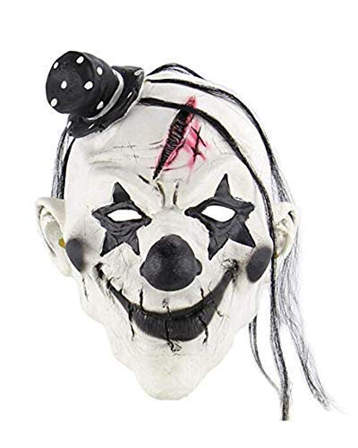 FishMM Scary Halloween Masks, Creepy Clown Makeup Evil Horror Masks for Party]()