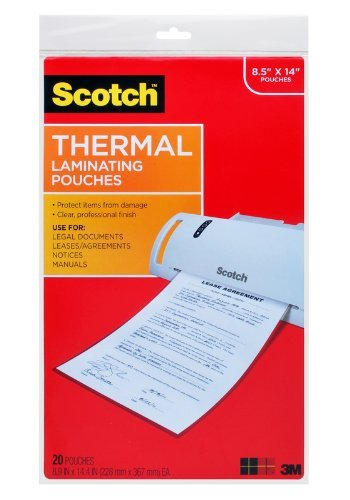 Scotch Thermal Laminating Pouches RNC29N, 8.5