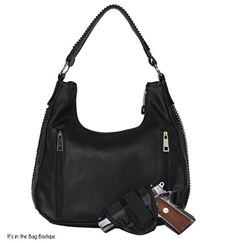 Left 8001 Purse Concealed Rhinestone Right Black and Leathers Roma wqCI5TZ