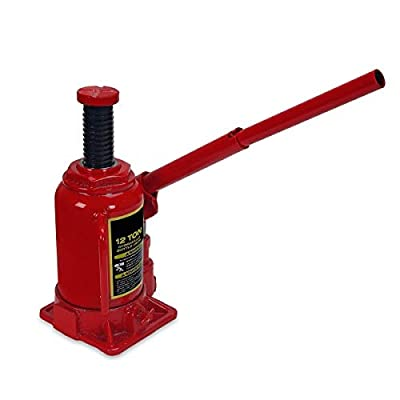 KCHEX>12 Ton Hydraulic Low Profile Bottle Jack Lift Heavy Duty Automotive Car Truck>12-Ton Low Profile Bottle Jack in The Repair Shop, Warehouse or Wherever There is Heavy Lifting to do.
