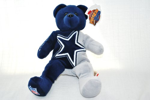 - DALLAS COWBOYS OFFICIAL NFL LARGE LOGO 8IN SPECIAL FABRIC FOOTBALL PLUSH TEDDY BEAR