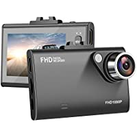 Dash Cam XFUN Car Auto DVR Digital 2.7 LCD Full HD 1080p Vehicles Dashboard Wide Angle Slim Traffic Camcorder Camera Video Interior Portable Mini Recorder Loop Recording, G-Sensor, Motion Detection