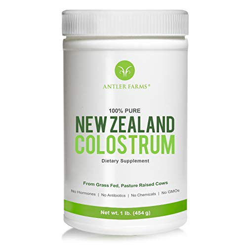 Antler Farms 100% Pure New Zealand Colostrum, 30 Servings, 1 lb - Grass Fed, Pasture Raised, Clean Sourced, Cold Processed, NO Hormones, NO Antibiotics, NO Chemicals, NO GMOs