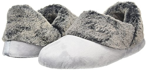 Dearfoams frosted Pile Basses Velour Bootiew White sleet Femme Cuff OfZfrw
