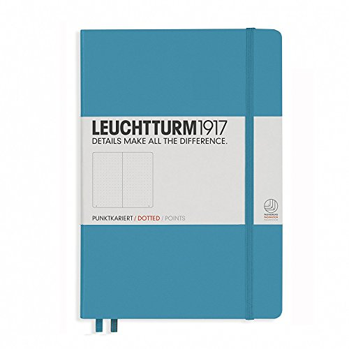 "LEUCHTTURM1917 Nordic Blue Hard Cover Journal, Medium (A5) 5.71"" x 8.27"" - Dotted / Points"