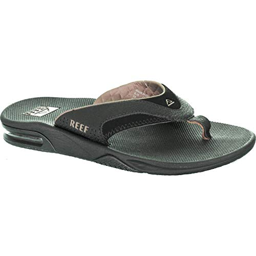 Reef Fanning Mens Sandals  Bottle Opener Flip Flops For Men,BLACK/BROWN,13 M US