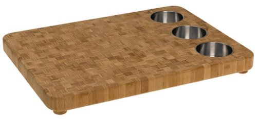 - Totally Bamboo 3-Bowl Butcher Block Prep Board Set, 16.5