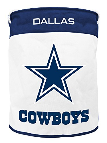 DALLAS COWBOYS CANVAS LAUNDRY BAG Dallas Cowboys Embroidered Leather
