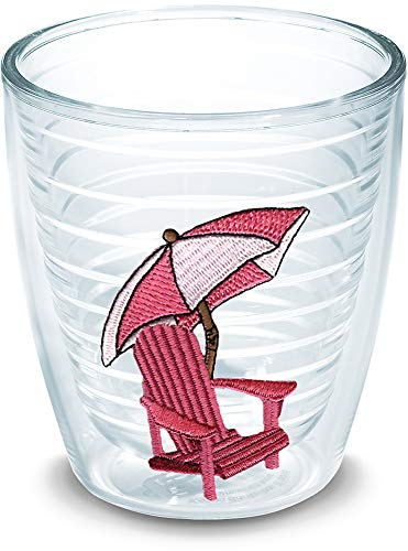 Tumbler Adirondack Chair - Tervis 1000106 Adirondack Chair - Pink Tumbler with Emblem 12oz, Clear