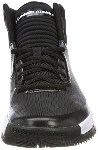 Armour 2 Men's Black Basketball Lockdown Black White Under Shoe Ztd4zqHndW