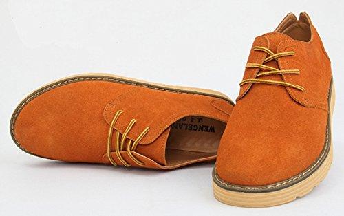 Diffyou Mode Platt Snörning Oxfords Bekväma Sneakers Kamel