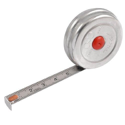 2M Length Retractable Steel Ruler Tape Metric Measuring Tools Silver (4' Metric Ruler)