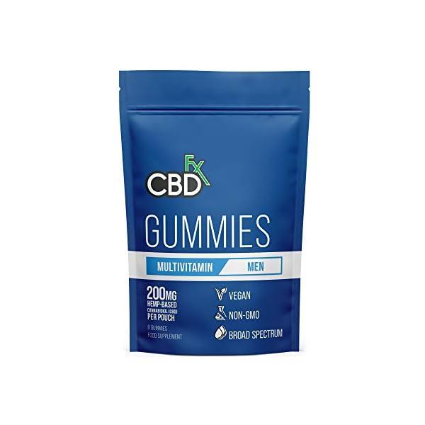 CBDfx Men's Multivitamin CBD Gummies (8 Gummy Pouch) – 200mg CBD