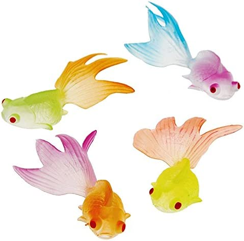 US Toy Glow in the Dark Goldfish Party Accessory (3-Pack of 12 each for Total of 36 Goldfish)
