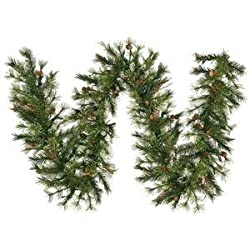 Vickerman Mixed Country Pine Garland with 200 Tips, 9-Feet by 12-Inch
