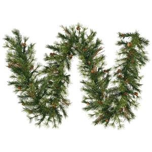 Vickerman Mixed Country Pine Garland with 200 Tips, 9-Feet by 12-Inch]()
