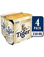 Tiger White Wheat Beer Can, 330ml (Pack of 4)