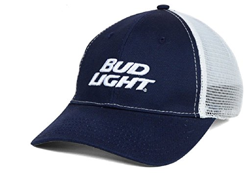 Bud Light Swoosh Flex Mesh Beer Stretch Fit L/XL Navy Hat (Swoosh Flex Cap)