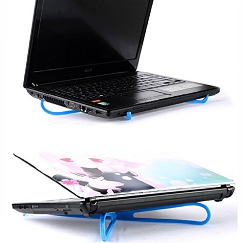 Portable Simple Light Laptop Notebook Adjustable Cooler Pad Stand (Blue)