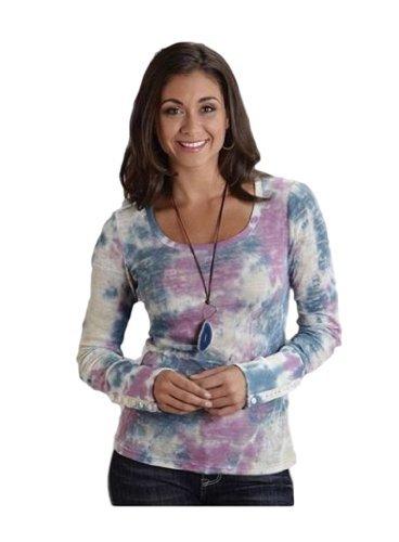 (Burnout Tye Dye Rib L S Shirt Stetson Ladies Collection- Spring I (s) 11-038-0513-0246GR)