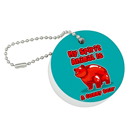 Graphics and More My Spirit Animal is a Gummy Bear Round Floating Foam Fishing Boat Buoy Key Float Keychain]()
