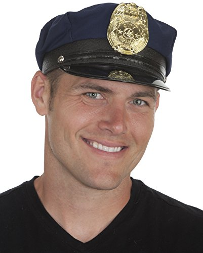 Jacobson Hat Company Men's Police Cap, Navy, Adult