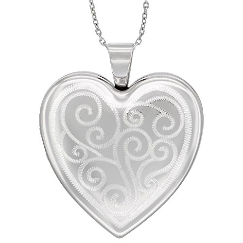Sterling Silver Necklace Picture Engraved