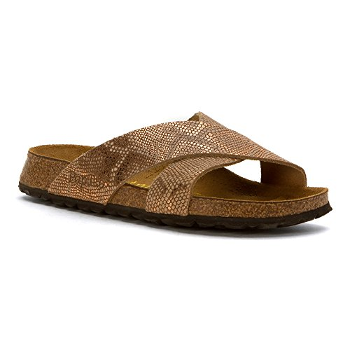 Birkenstock Unisex Daytona Royal Python Brown Leather Sandal 39 (US Men's 6-6.5, US Women's 8-8.5) Narrow by Birkenstock