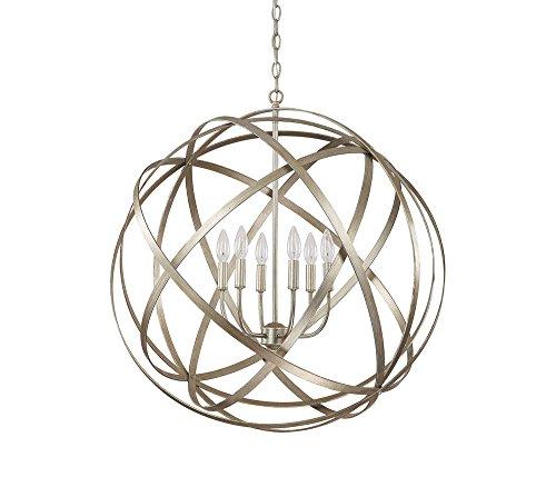 Capital Lighting 4236WG Axis 6-Light Pendant, Winter Gold ()