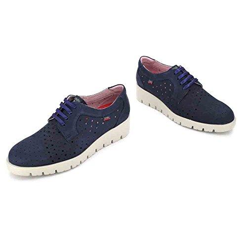 Callaghan Metal Derby Zapatos De Azul Cordones Haman Para Mujer PxP7fgqr