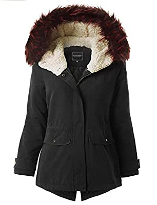 Ollie Arnes Women's Utility Militray Anorak Drawtring Parka Jackets with Pocket