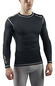 Sub Sports Mens Long Sleeve Compression Top Base Layer Vest -S