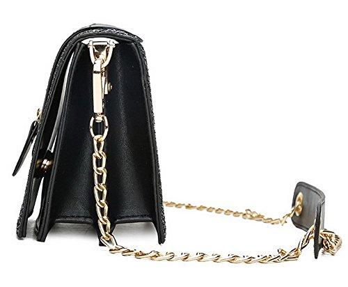 fourre Robe bandoulière tout Mode Pu Cuir Femme à GMBBB181242 Sacs AgooLar Noir Zippers Noir Sacs nF10gxq